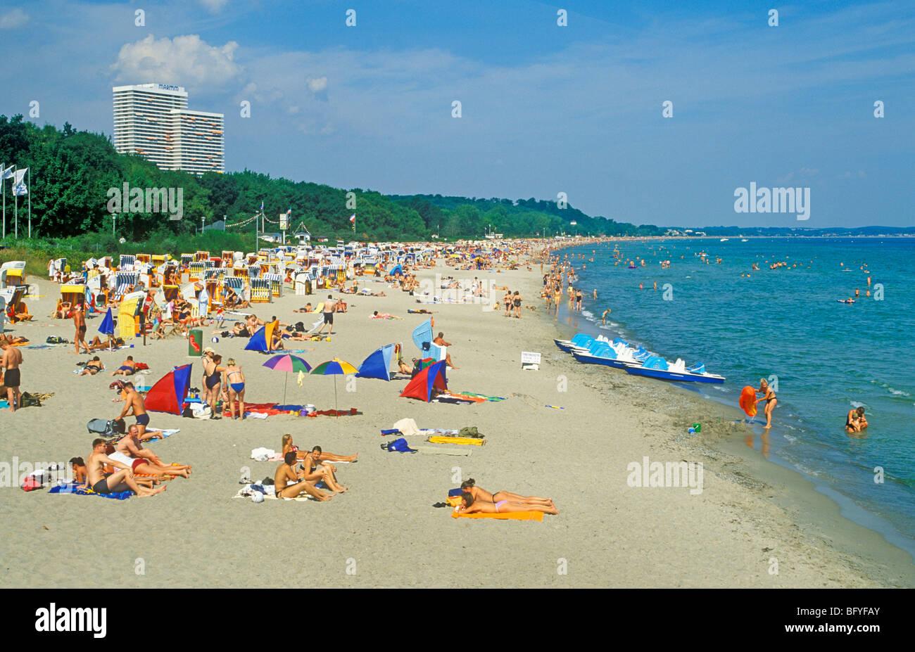 Seaside Resort Timmendorfer Strand Baltic Sea Coast Stock