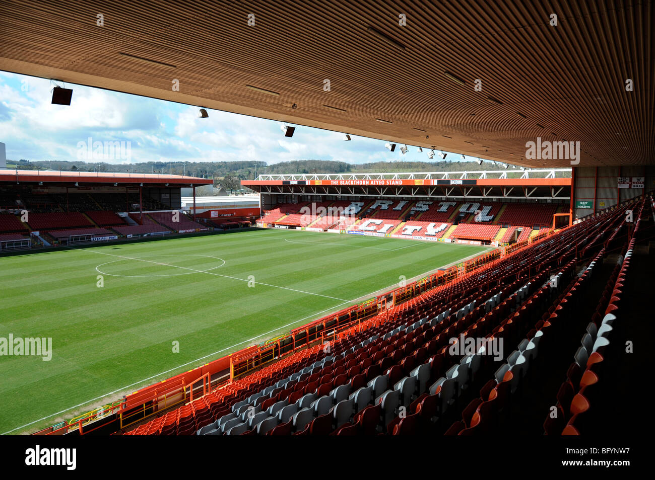 The Bristol City FC ground Ashton Gate March 2008 - Stock Image