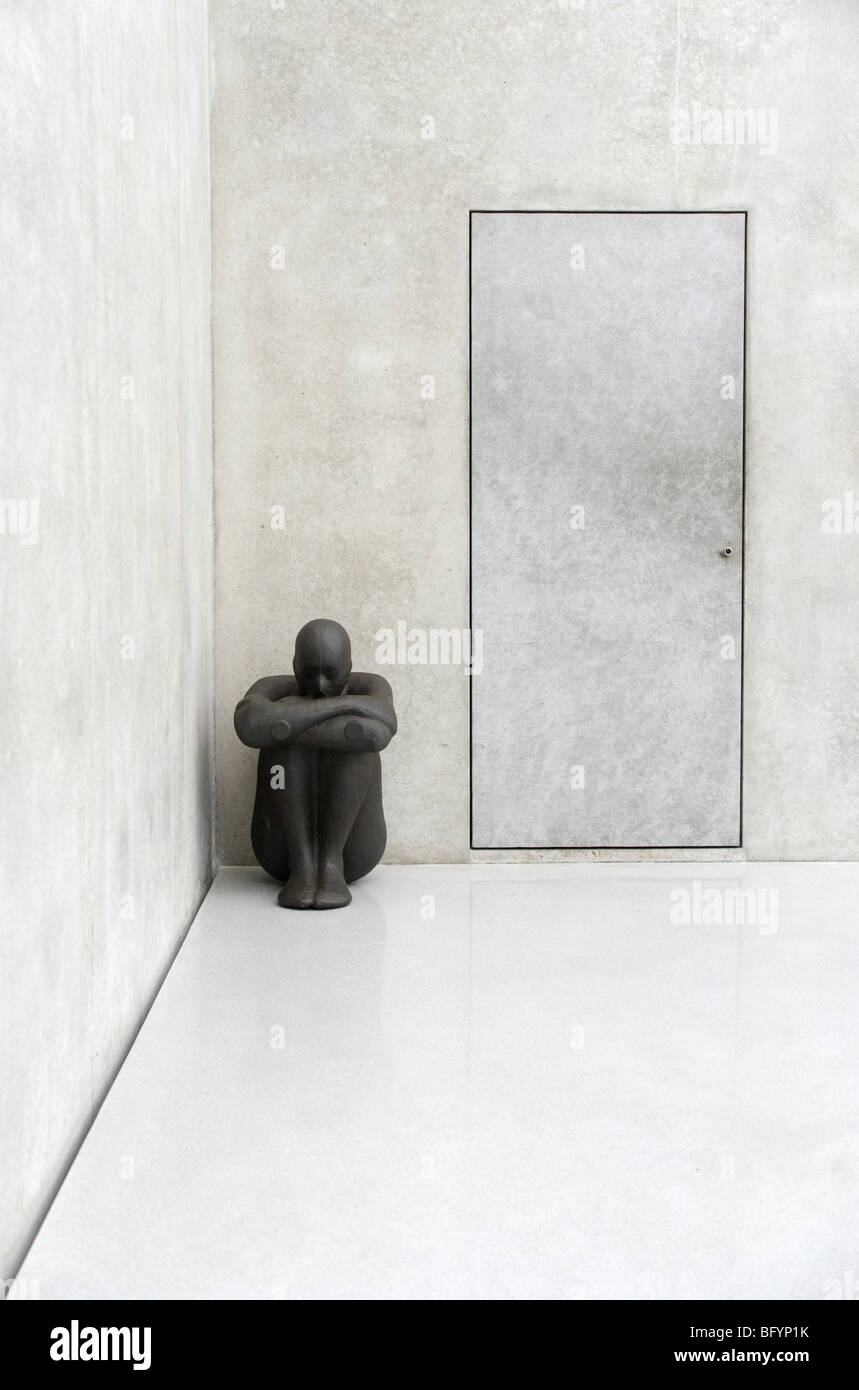 CRITICAL MASS II, 1995 installation from Antony Gormley, Kunsthaus in Bregenz - Stock Image