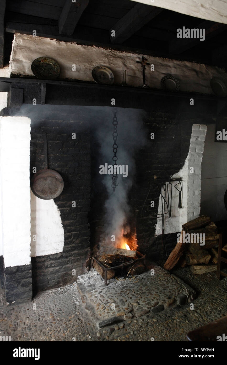 working fire place - Stock Image