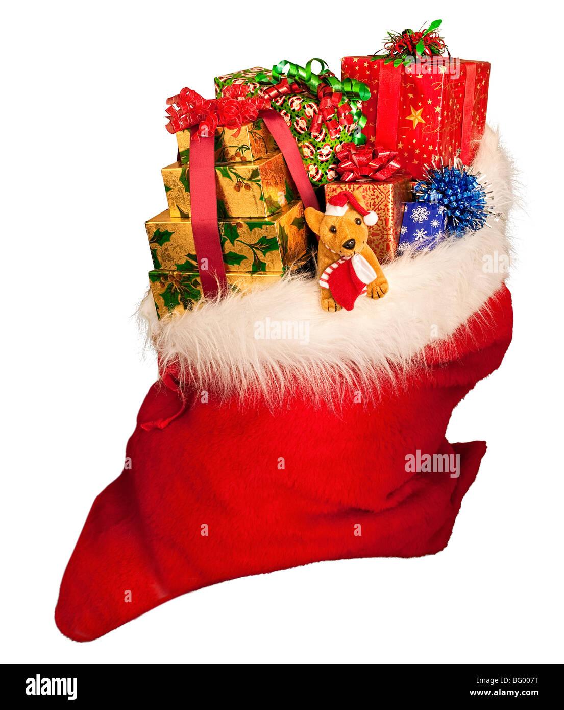 Sack Of Toys : A christmas sack of toys stock photo alamy