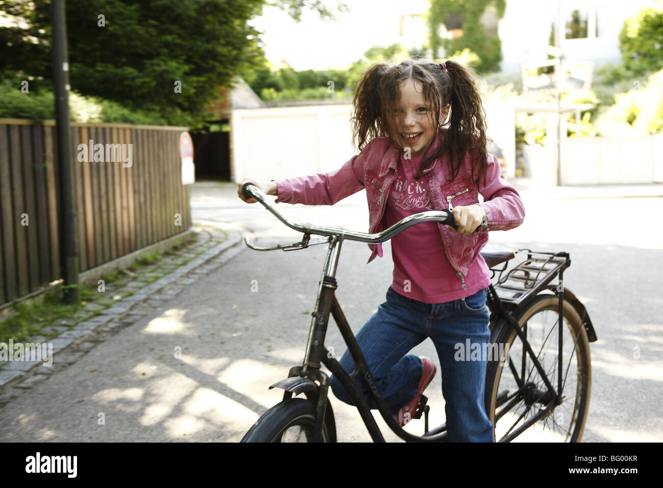 Smart girl alone at home Stock Photo