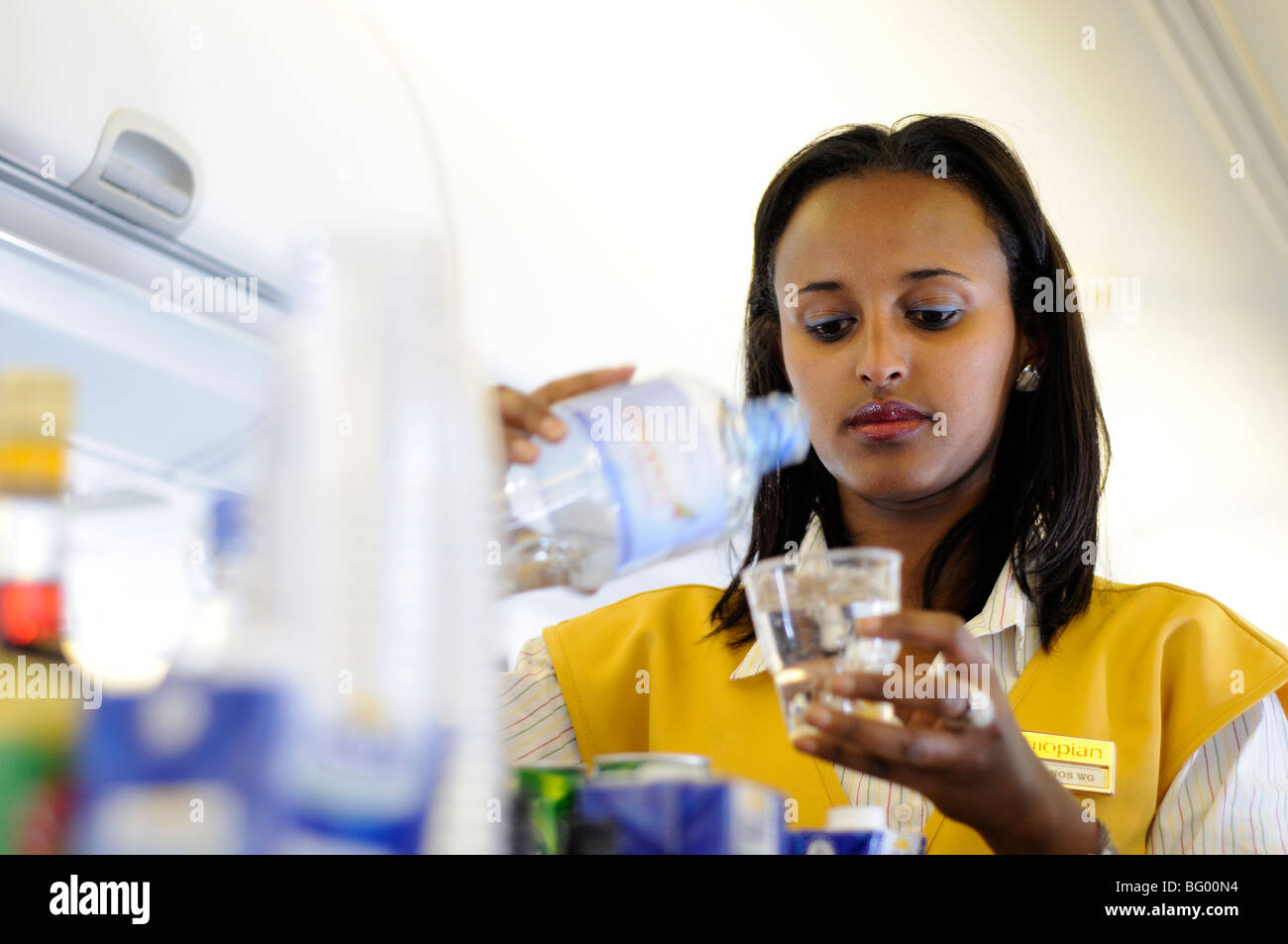 Ethiopian Airlines Air Hostess - Stock Image