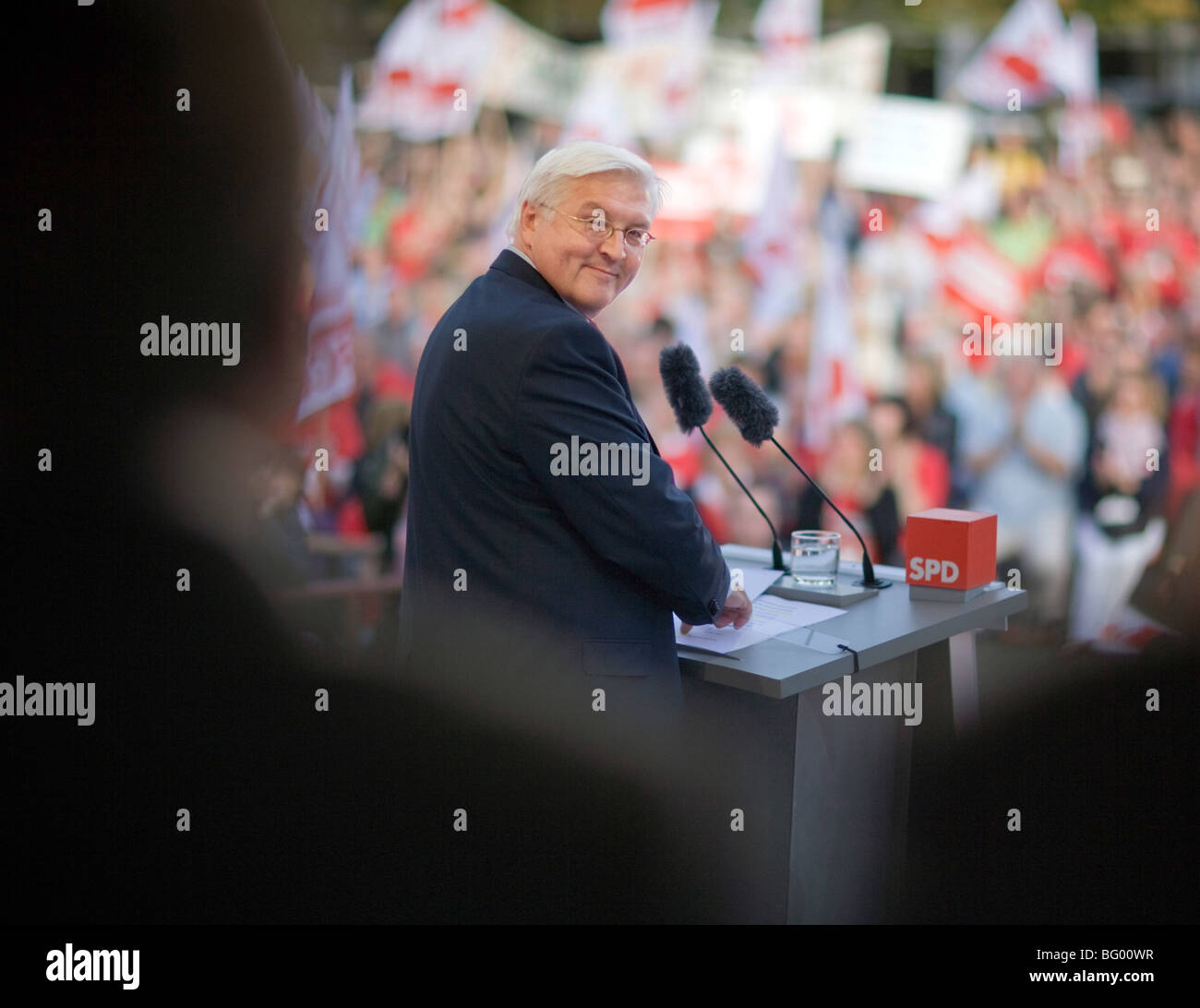 Frank Walter Steinmeier, SPD, Chancellor candidate, Muenster, Germany 17.09.2009 - Stock Image