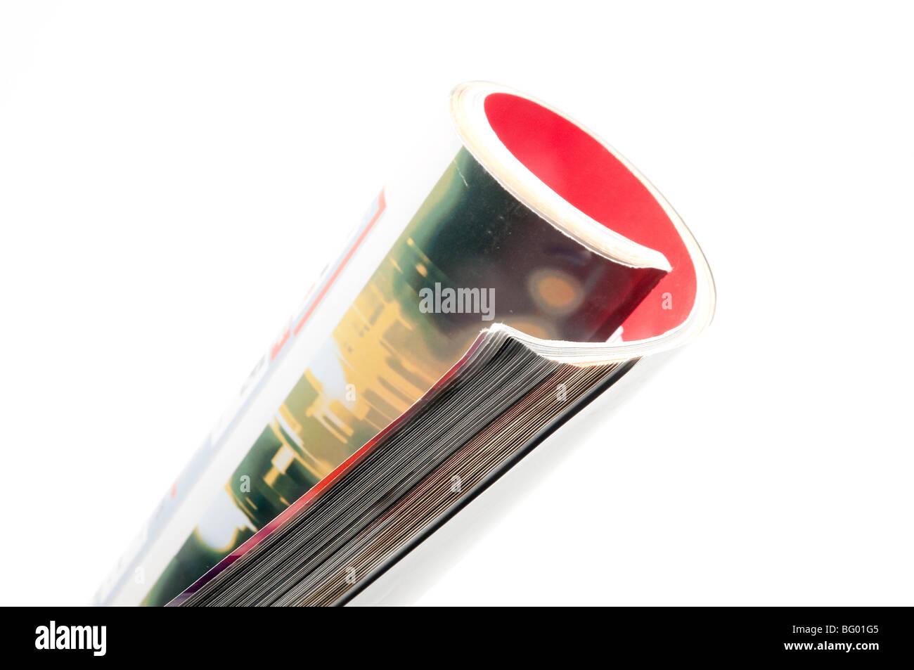 magazine rolled up - Stock Image