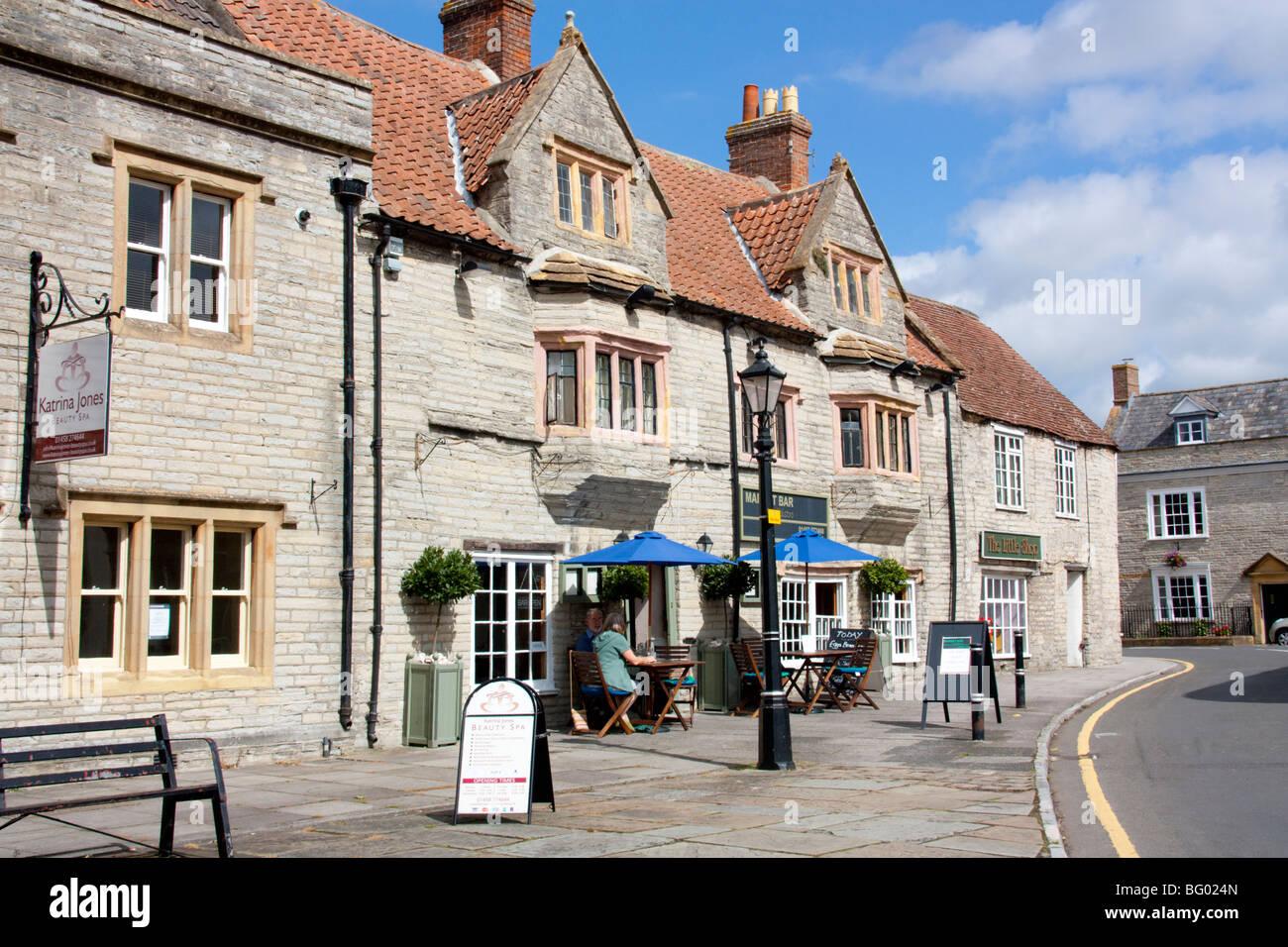 Street Scene, Somerton, Somerset England - Stock Image