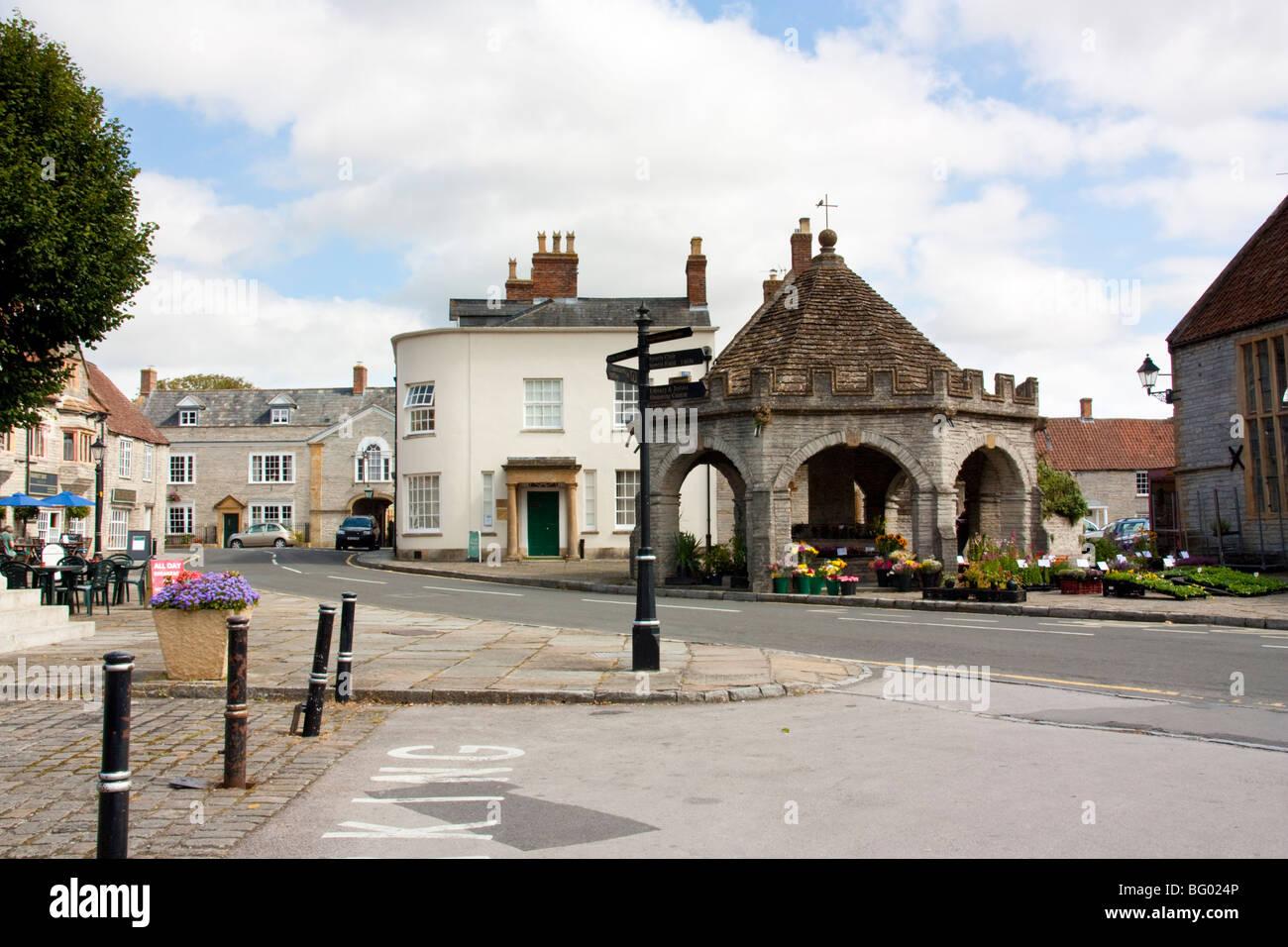 Street Scene, Somerton Somerset Engand - Stock Image