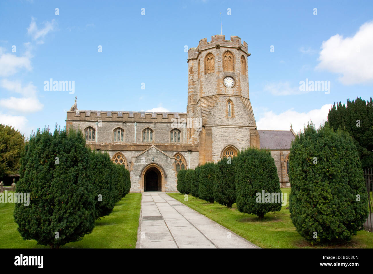 St Michaels and All Angles Church, Somerton Somerset England - Stock Image
