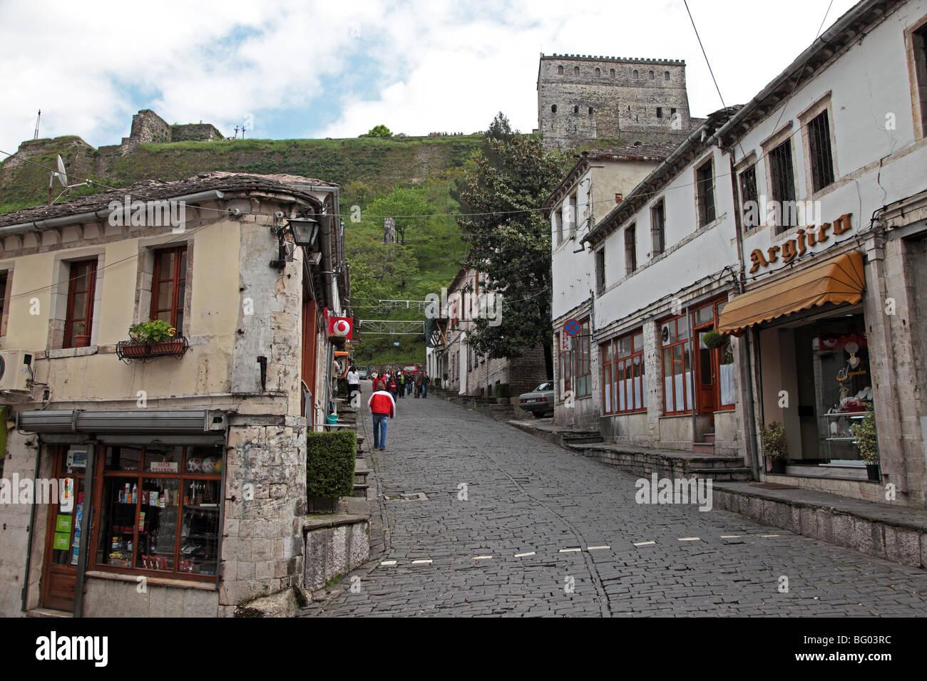 Old town of Gjirokastra, Albania - Stock Image