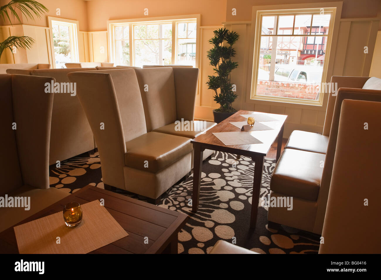lounge, Root 246 Restaurant, Solvang, California, United States of America - Stock Image