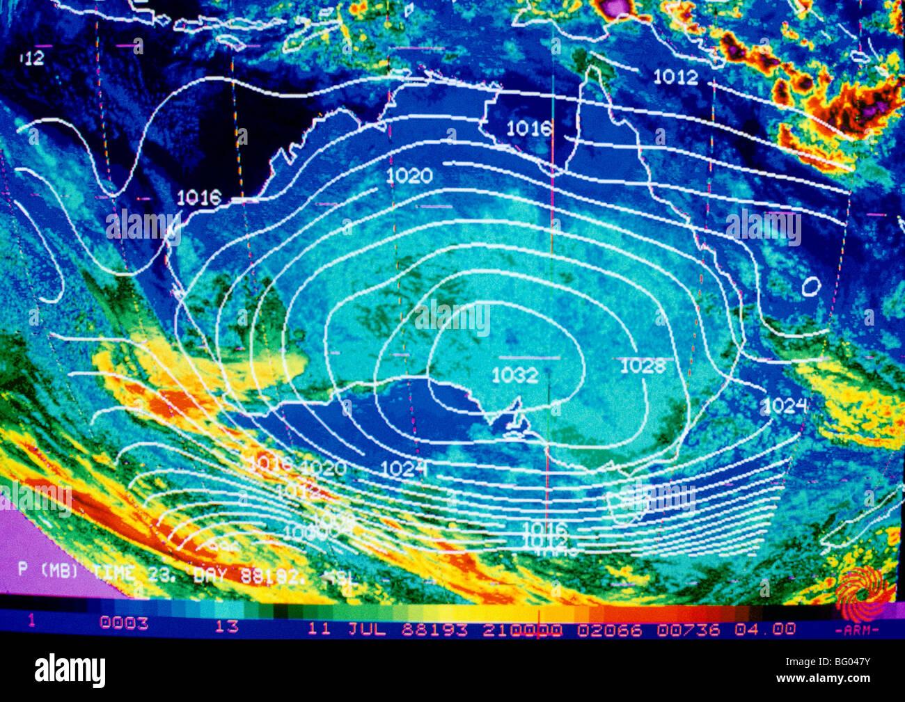 Australia Map Weather.Weather Map Australia Stock Photo 27048223 Alamy