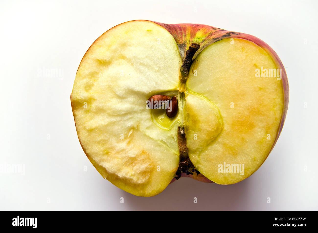 broken apple - Stock Image