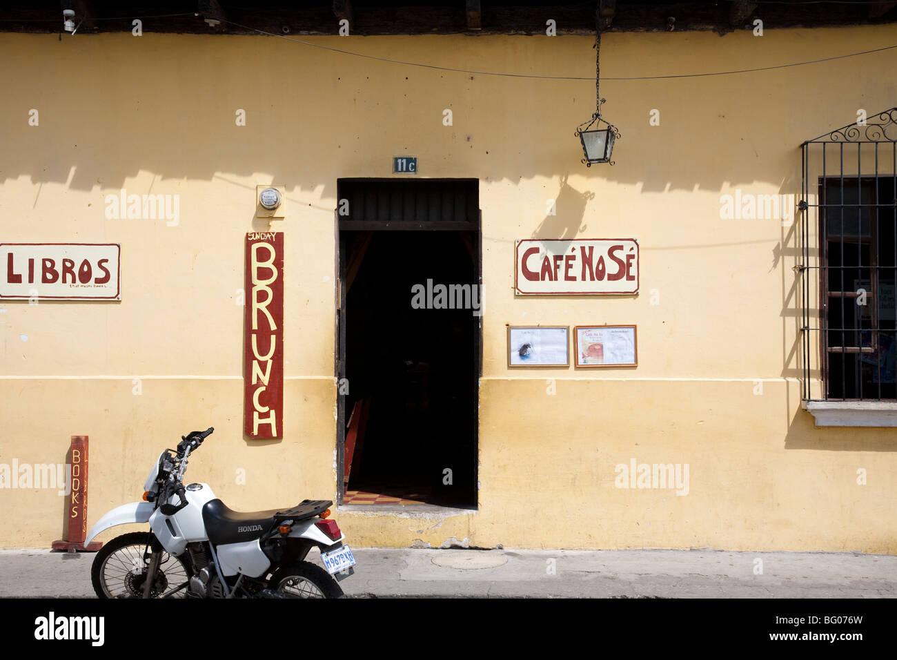 Cafe No Se Bar and Restaurant in Antigua Guatemala Stock Photo ...