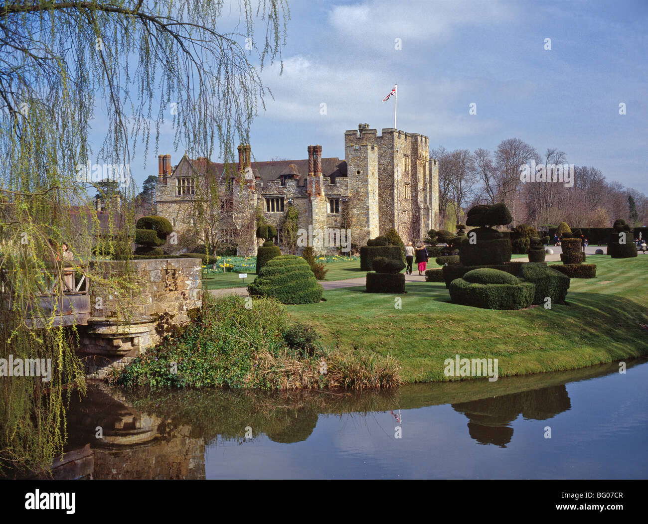 Leeds Castle, first used as a royal castle in the 9th century, near Maidstone, Kent, England, United Kingdom - Stock Image
