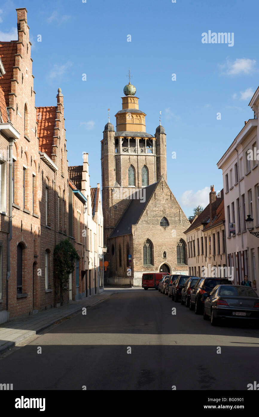 The Jerusalem Church in Bruges, Belgium - Stock Image