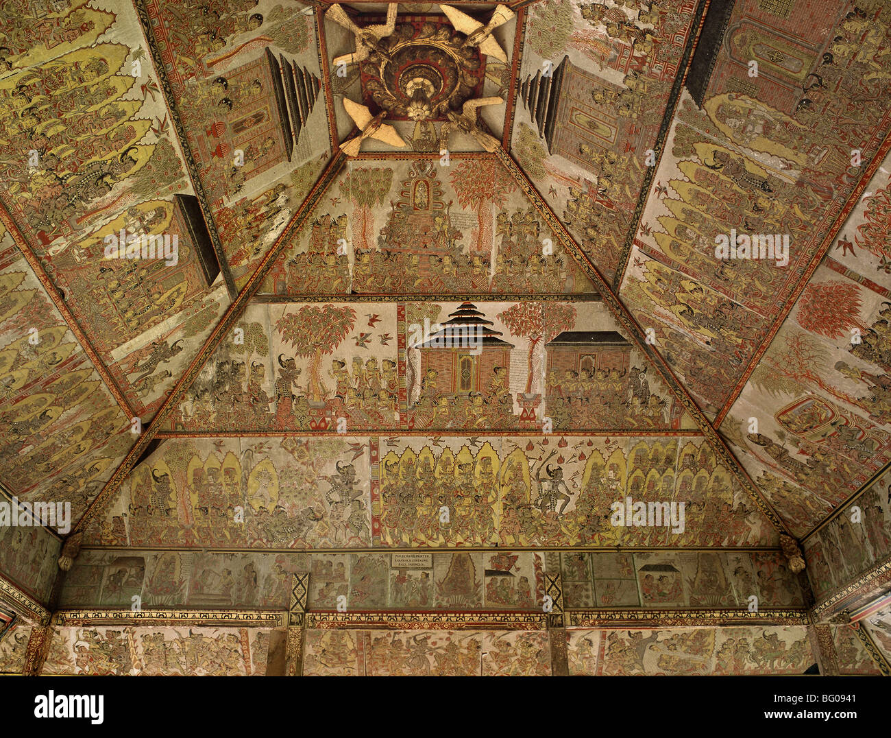 Ceiling of Court of Justice, Klungkung, Bali, Indonesia, Southeast Asia, Asia - Stock Image