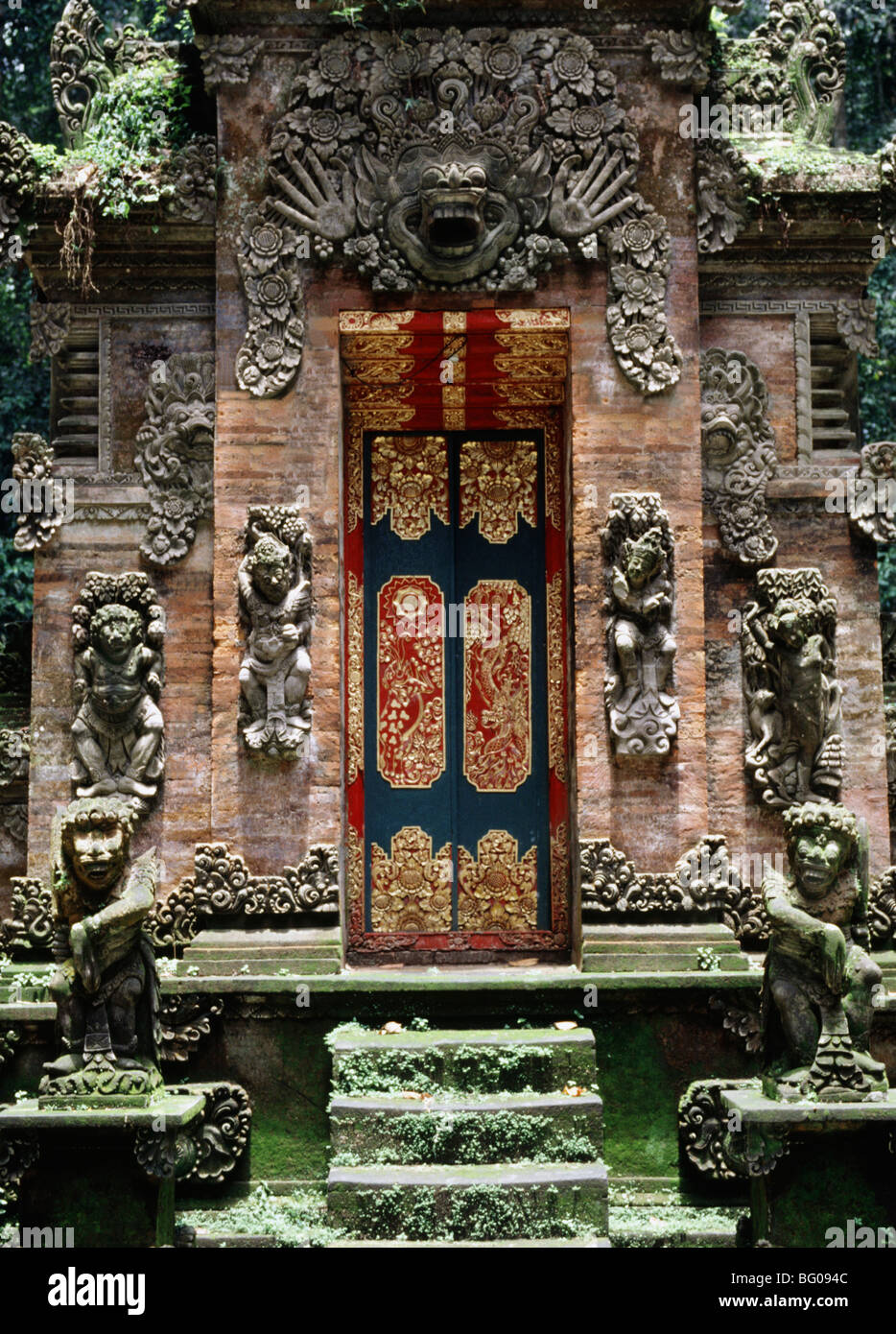 Gate at Monkey Forest Temple in Ubud, Bali, Indonesia, Southeast Asia, Asia - Stock Image
