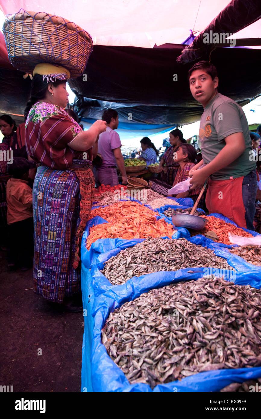 Friday Market in Solola Guatemala. - Stock Image