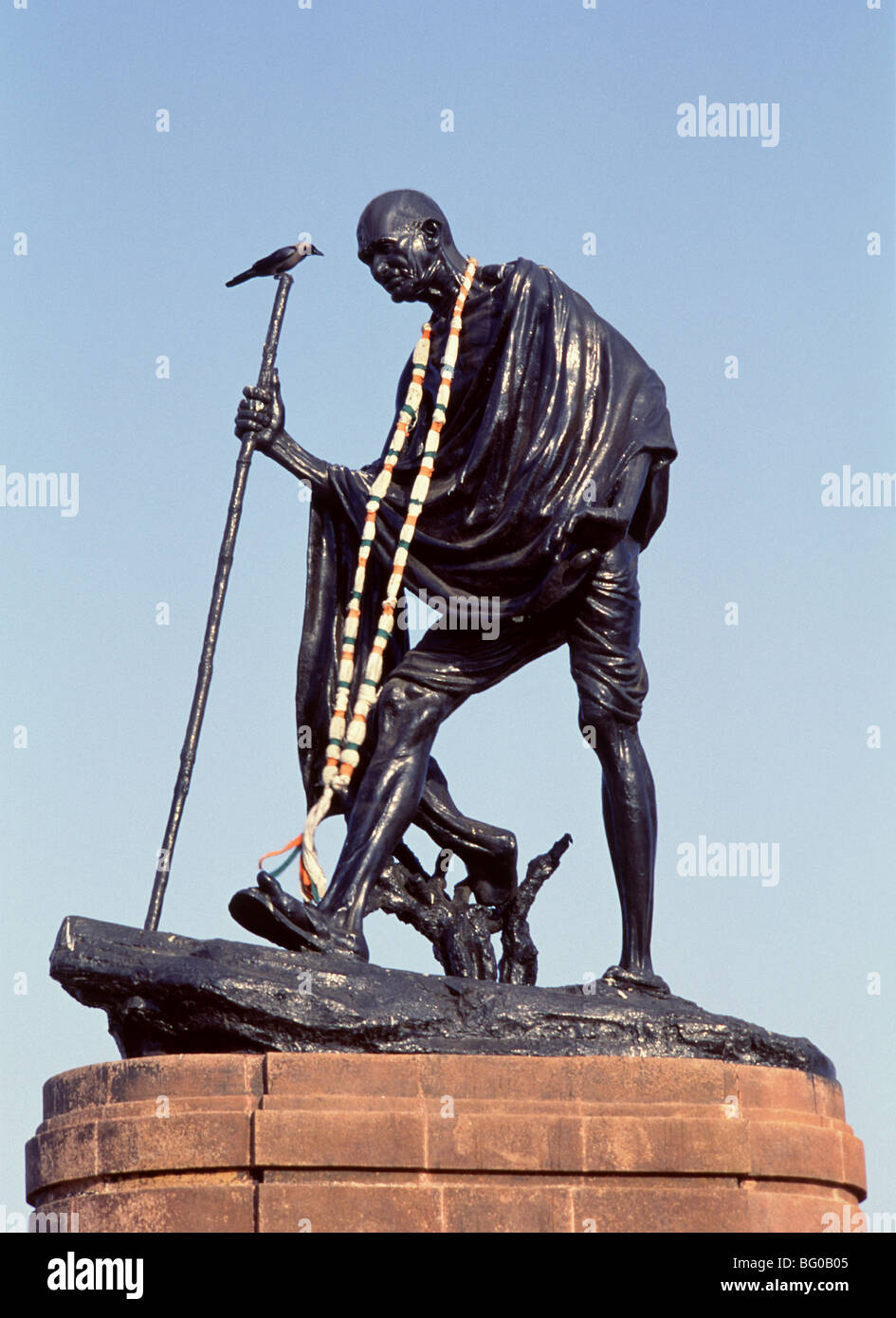 Statue of Gandhi, New Delhi, India, Asia - Stock Image