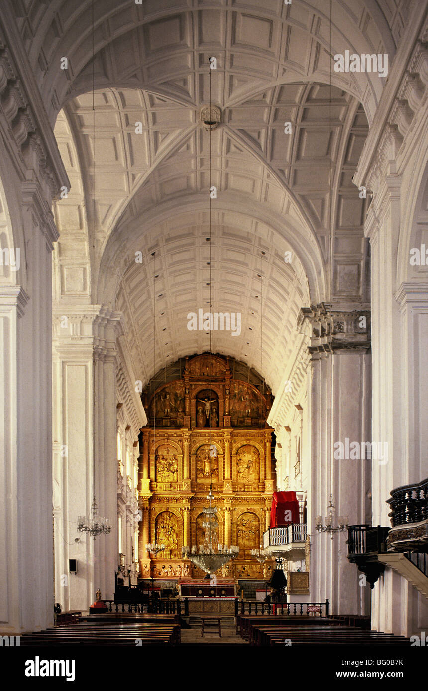 Se Cathedral in Old Goa, UNESCO World Heritage Site, Goa, India, Asia - Stock Image