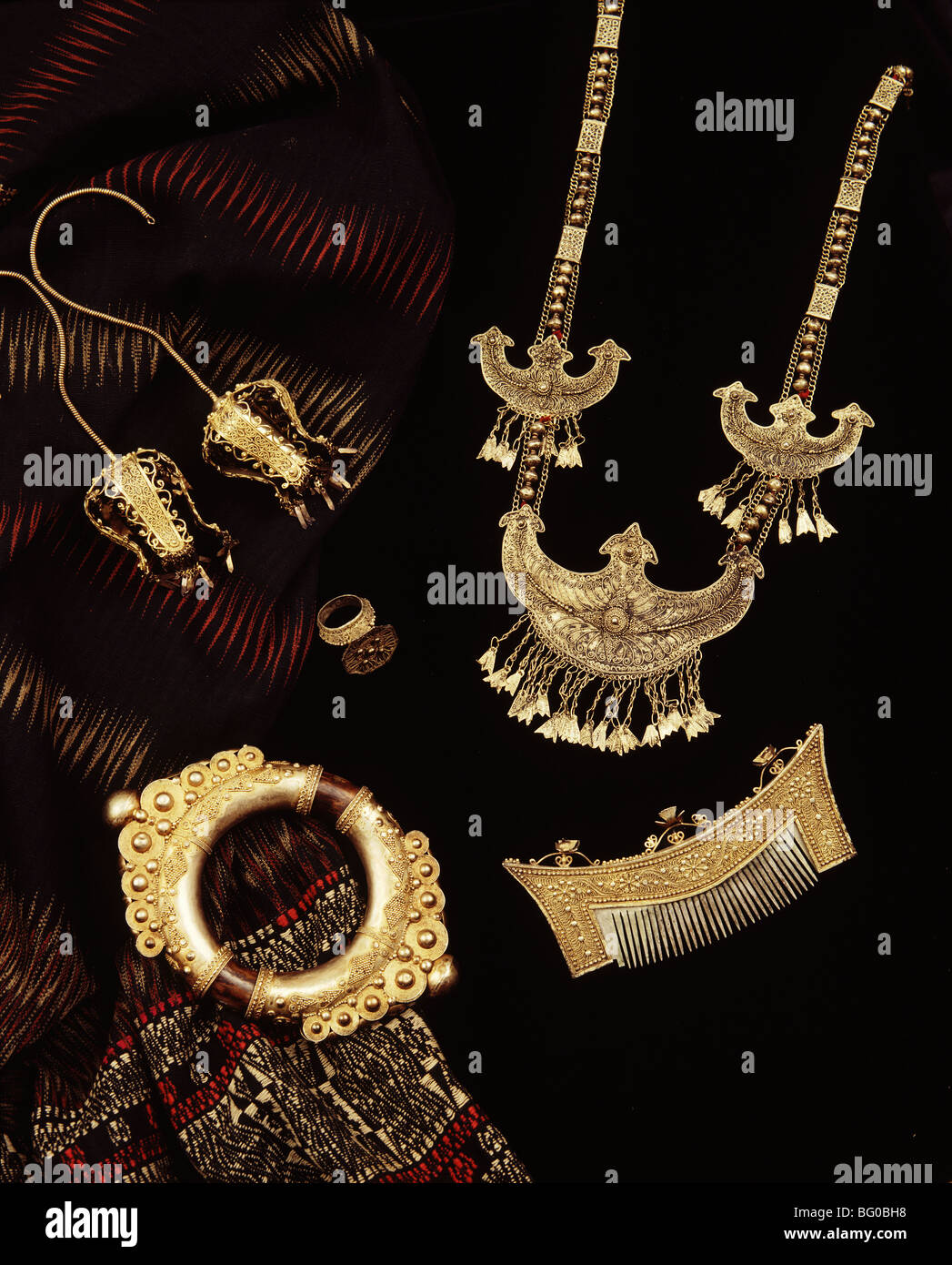 Jewellery of Batak tribe from the Regent Collection, Sumatra, Indonesia, Southeast Asia, Asia - Stock Image