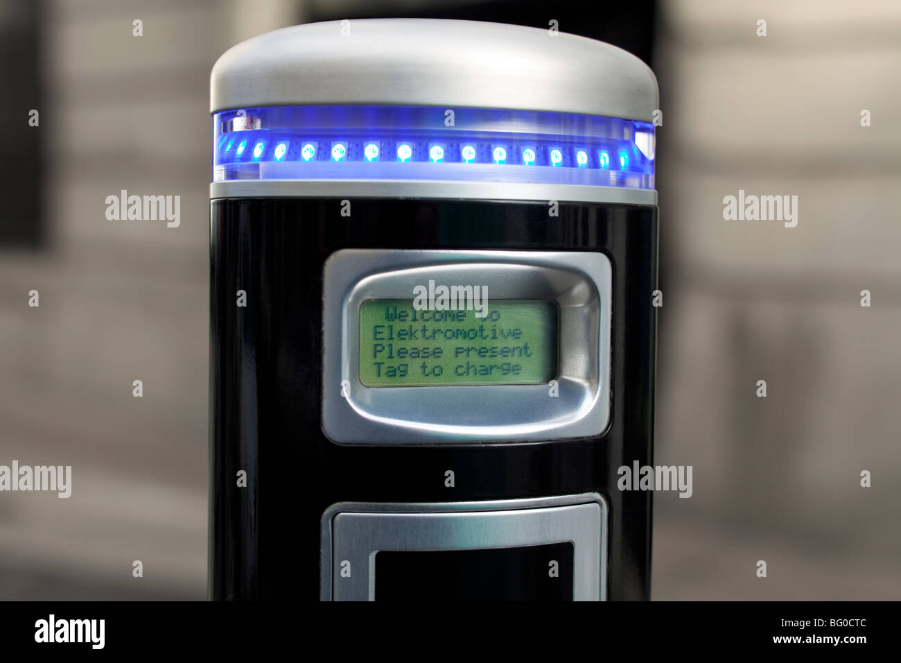 Electric vehicle charging bay, London, UK - Stock Image