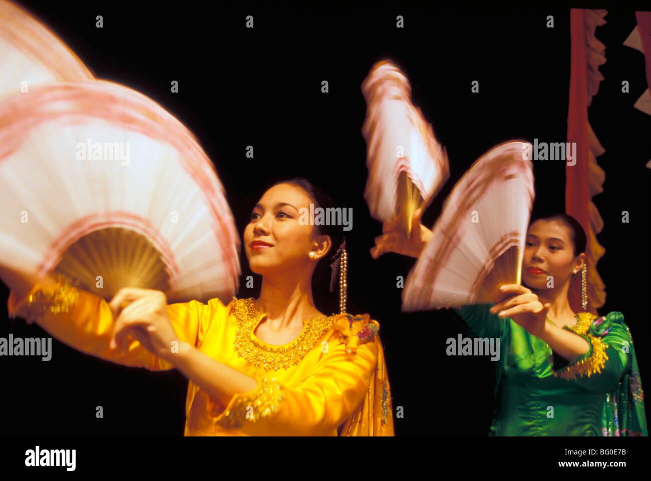 Filipino dancers, Philippines, Southeast Asia, Asia - Stock Image
