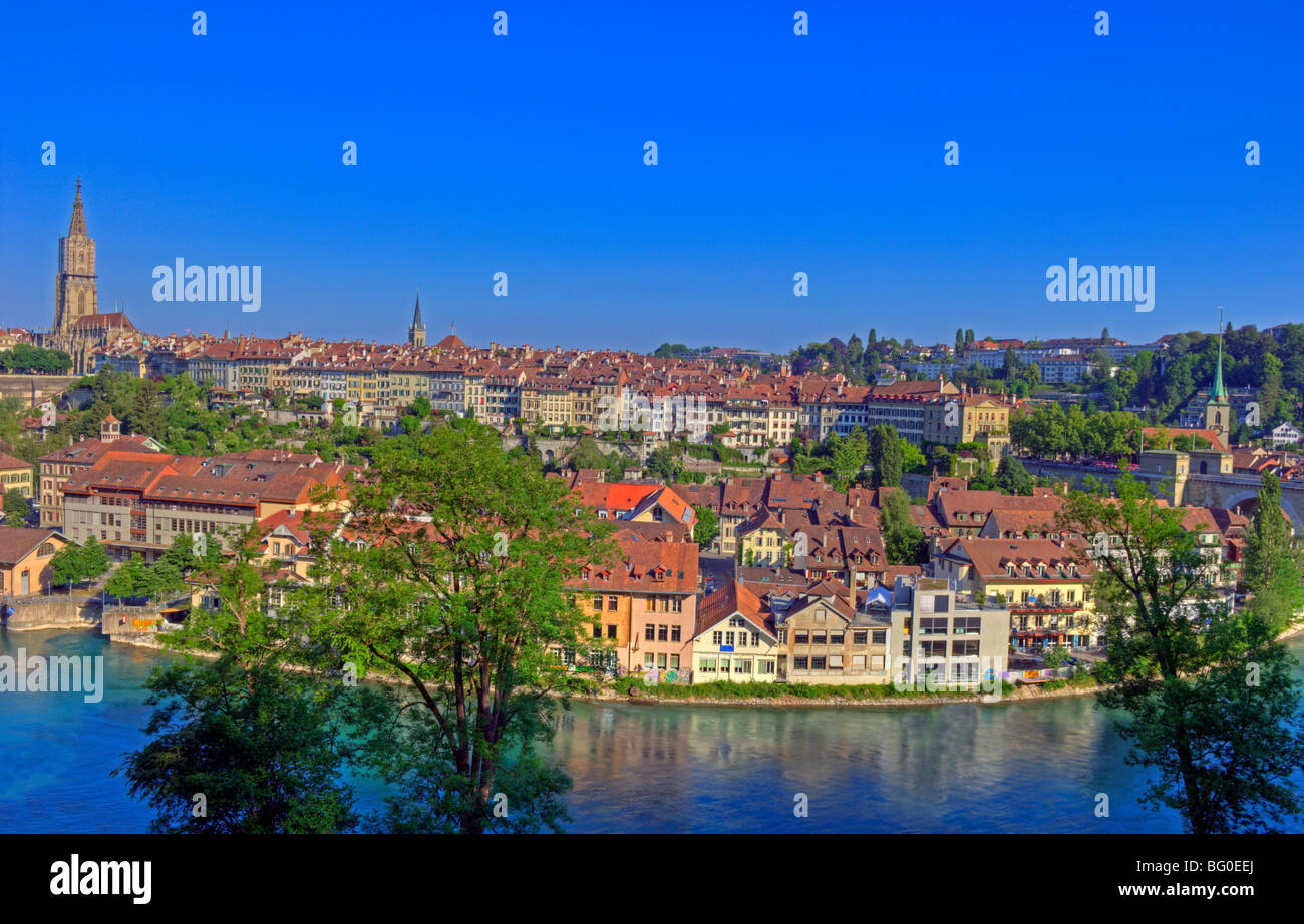 Bern and the river Aare, Berne, Switzerland - Stock Image