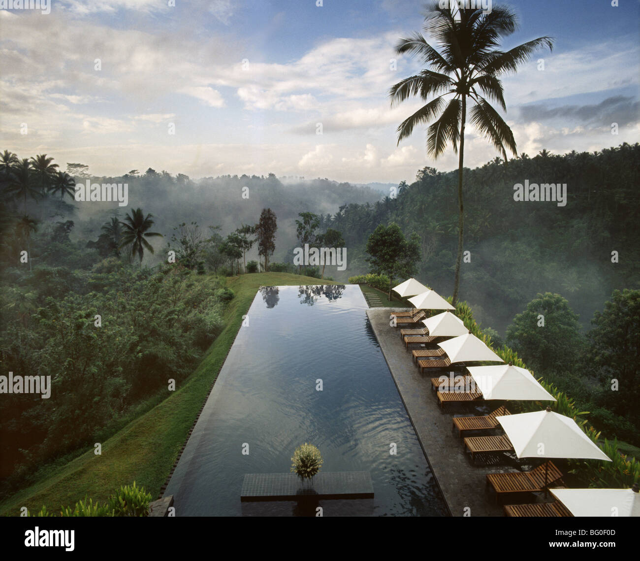 Pool of Alila Hotel Ubud, formerly The Chedi, Ubud, Bali, Indonesia, Southeast Asia, Asia - Stock Image