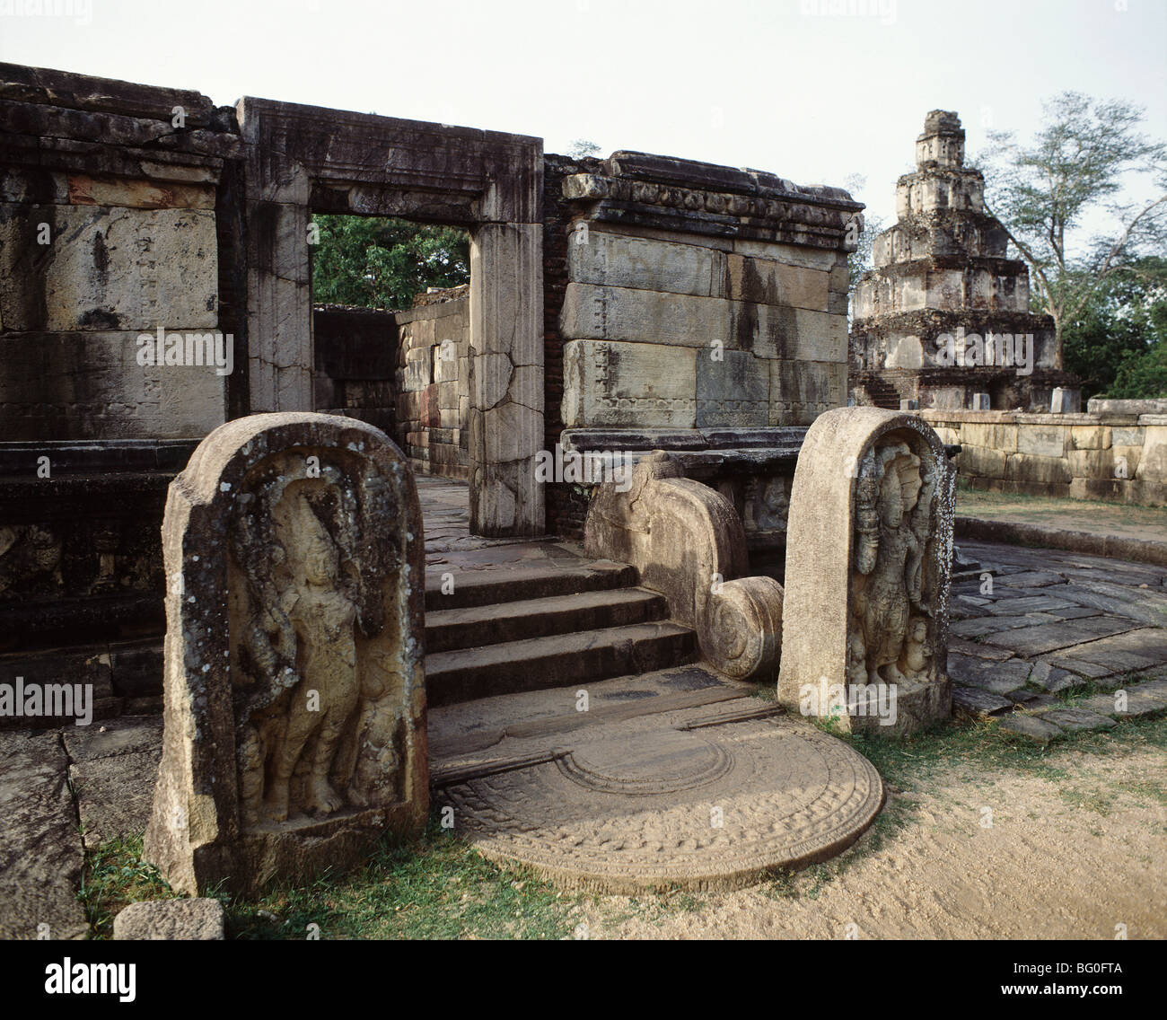 The Vatadage (Hall of the Relic) in Polonnaruwa, UNESCO World Heritage Site, Sri Lanka, Asia - Stock Image