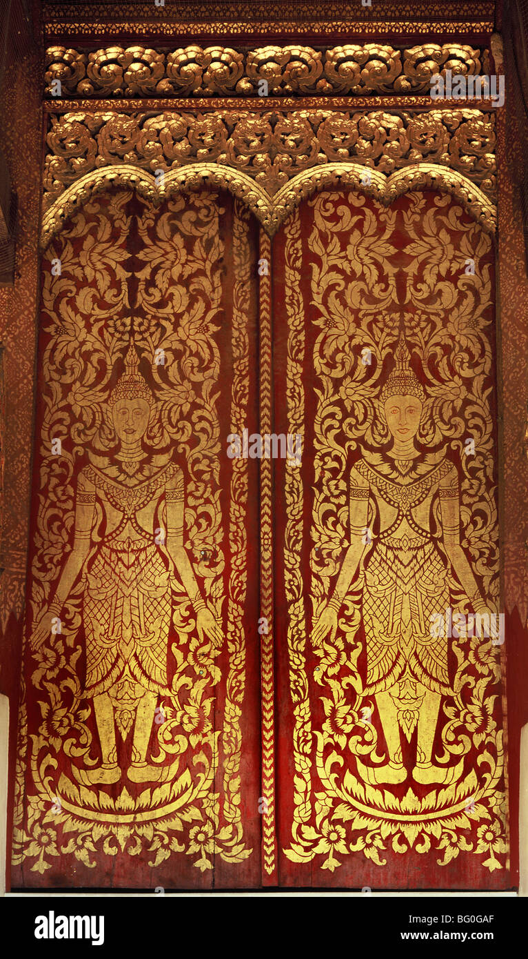 Thai door detail Thailand Southeast Asia Asia - Stock Image & Thai Door Detail Stock Photos u0026 Thai Door Detail Stock Images - Alamy