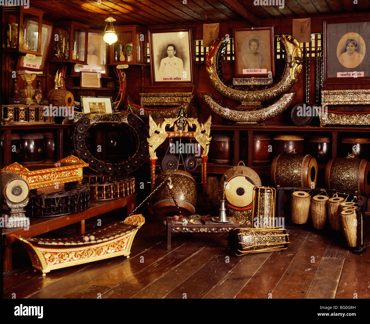 Musical instruments in Thailand, Southeast Asia, Asia - Stock Image