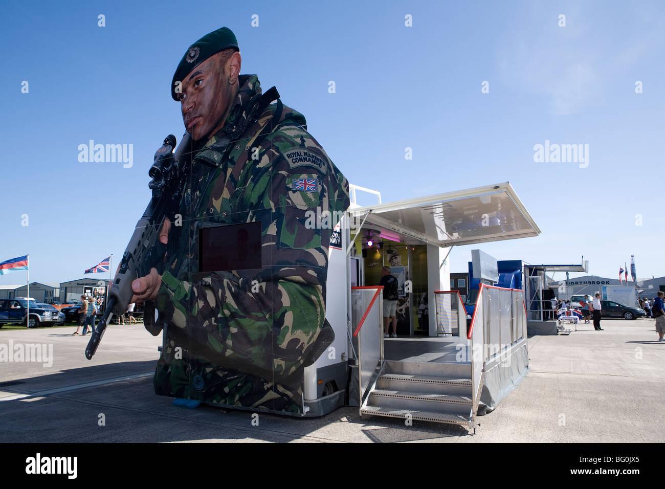 Large British Army recruitment billboard. Sussex, England. - Stock Image