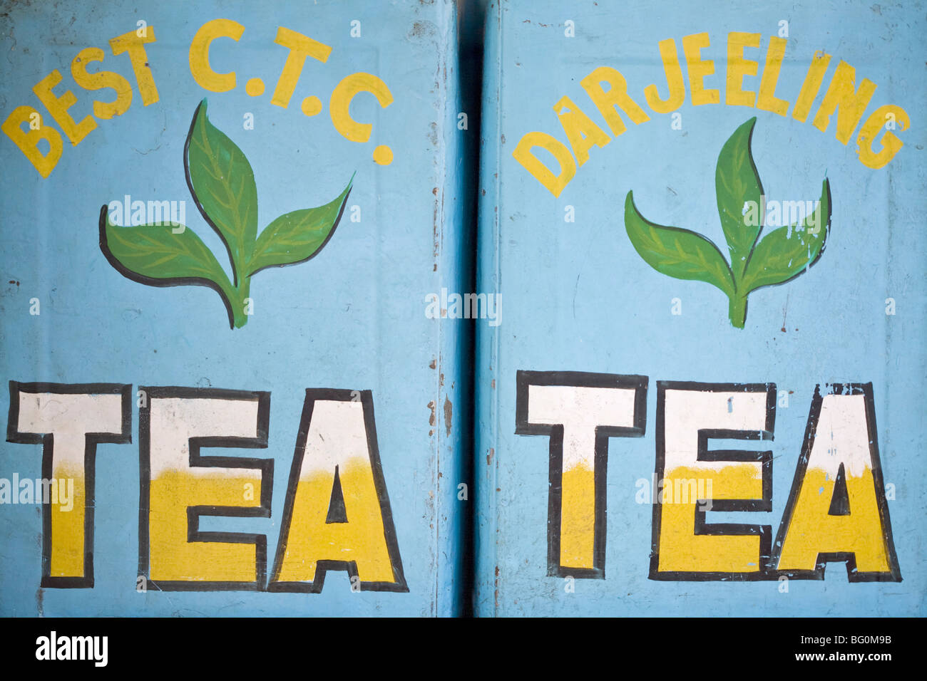 Tea for sale, Mahatma Gandhi Marg (MG Marg), Gangtok's main shopping street, Gangtok, Sikkim, India, Asia - Stock Image