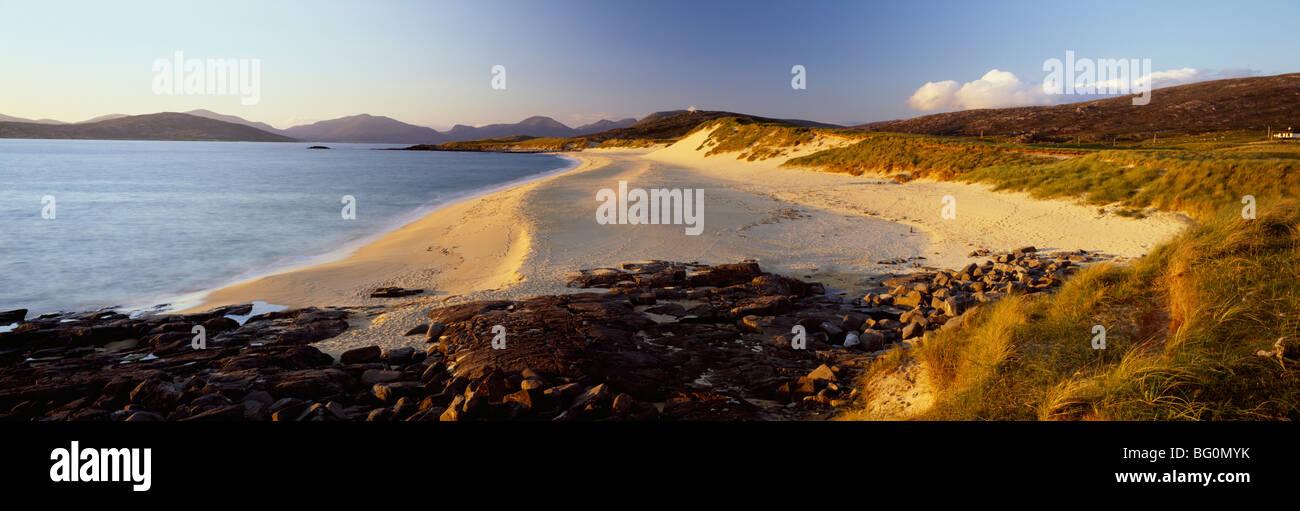 Evening light on the beach at Borve, Isle of Harris, Outer Hebrides, Scotland, United Kingdom, Europe - Stock Image