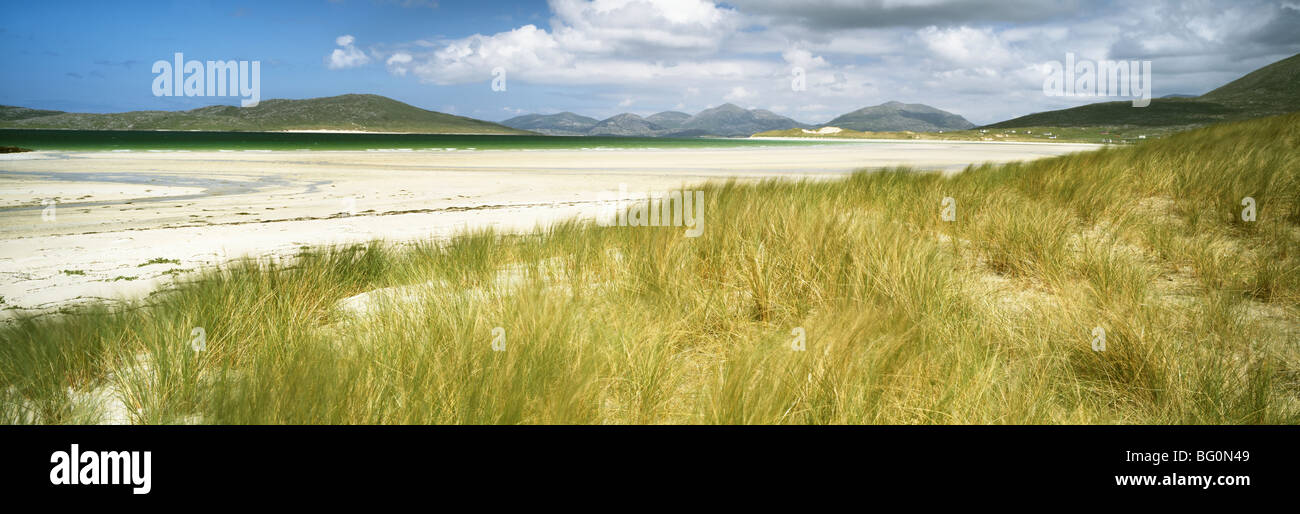 Low tide at Seilebost Beach, Isle of Harris. Outer Hebrides, Scotland, United Kingdom, Europe Stock Photo