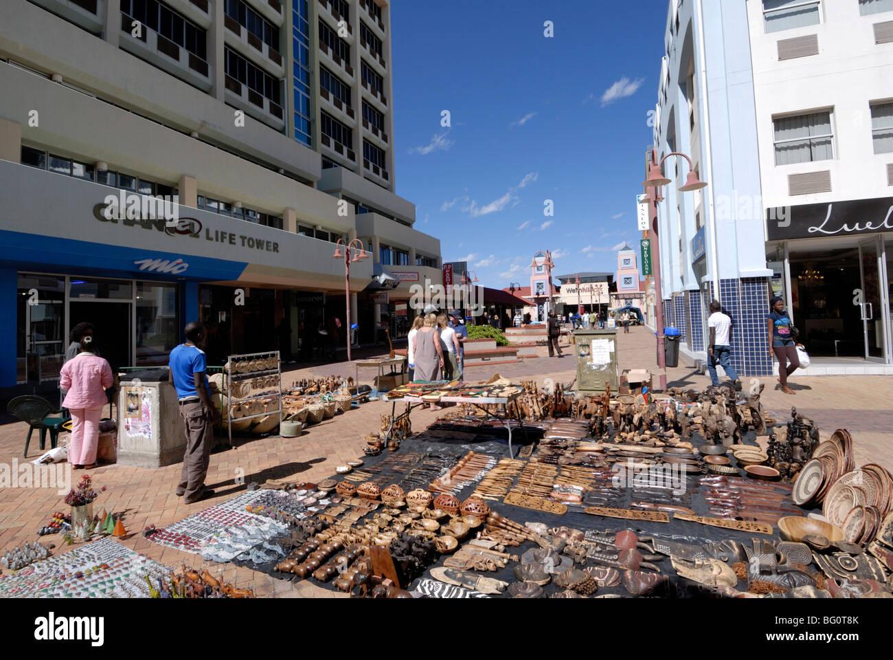 Tourist market, Windhoek, Namibia, Africa - Stock Image