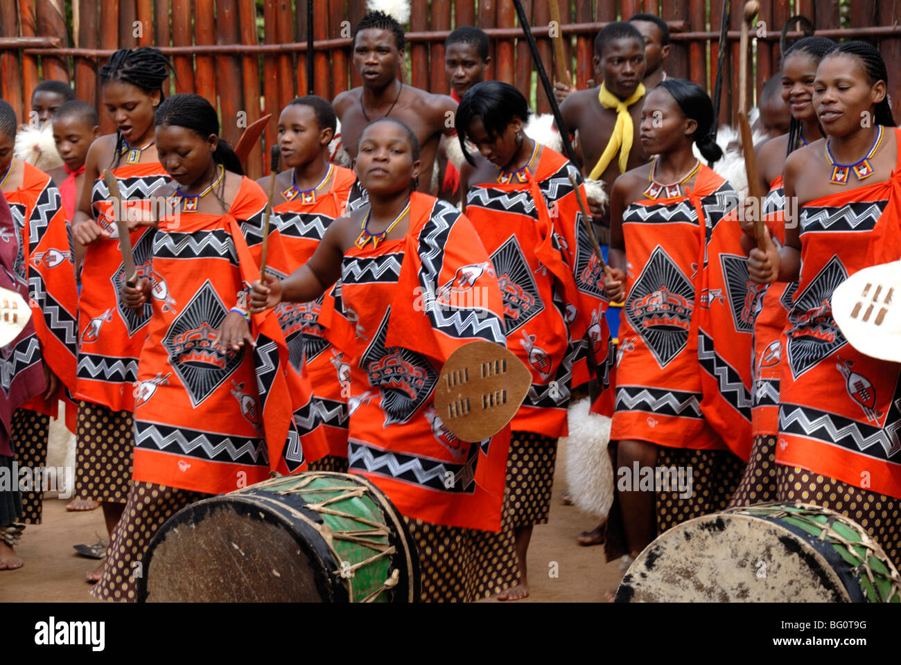 Mantenga Swazi Cultural Village, Swaziland, Africa - Stock Image