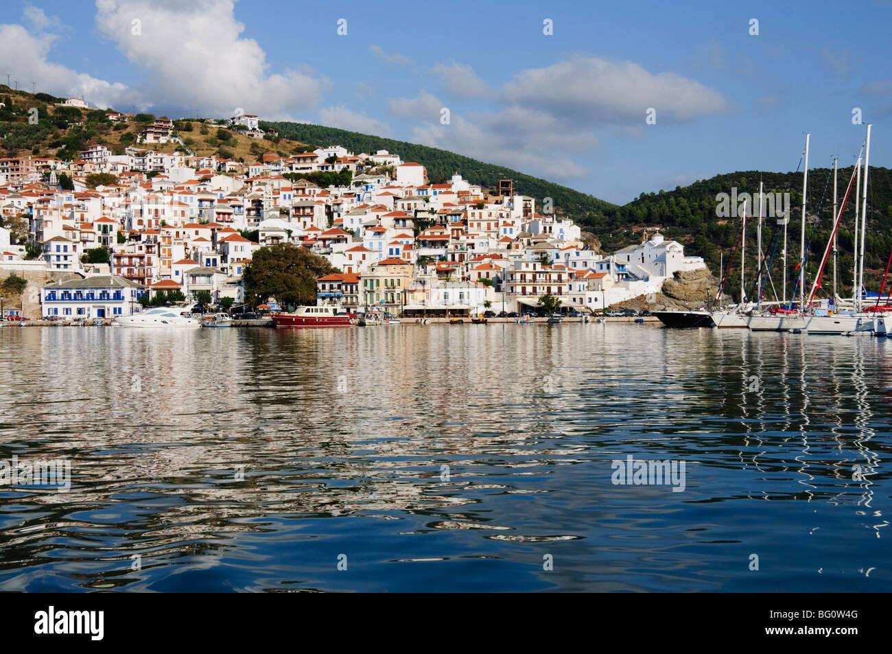Skopelos Town, Skopelos, Sporades Islands, Greek Islands, Greece, Europe Stock Photo