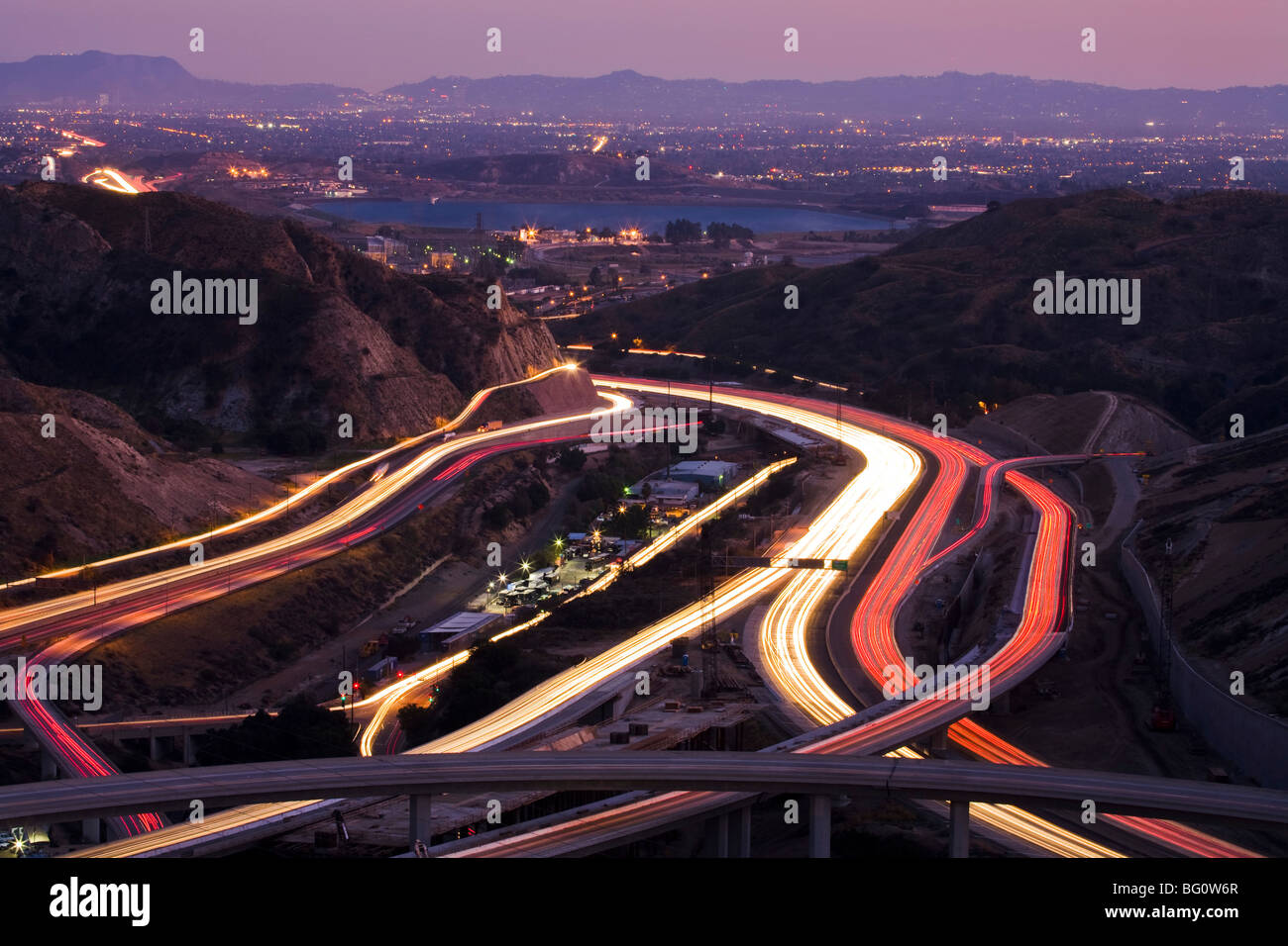 The Interchange Of The  Freeways Santa Clarita California United States Of America