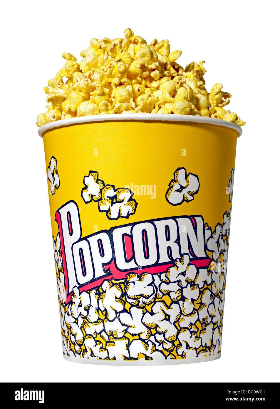 Bucket of Popcorn - Stock Image