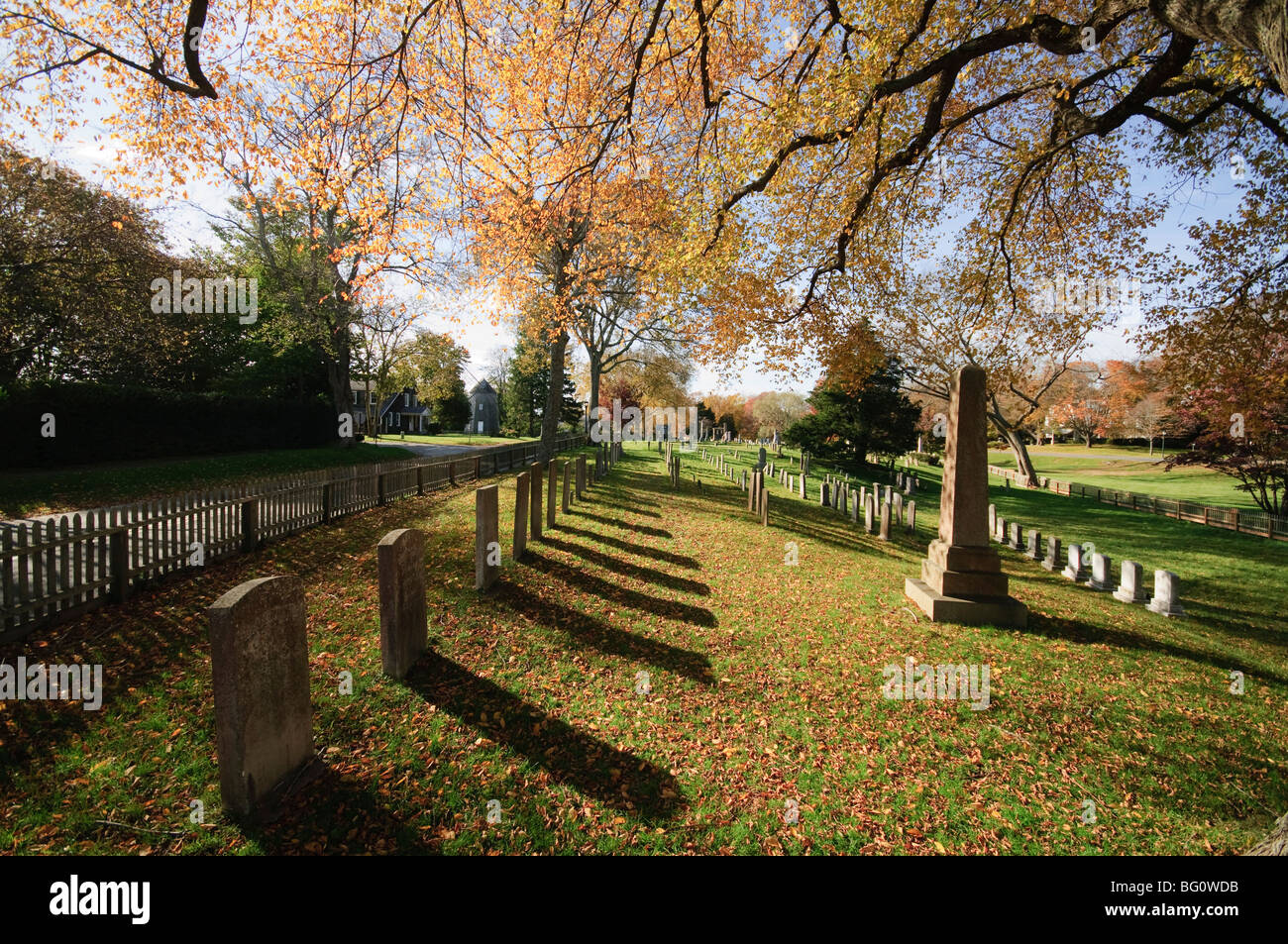 Cemetery, East Hampton, The Hamptons, Long Island, New York State, United States of America, North America Stock Photo