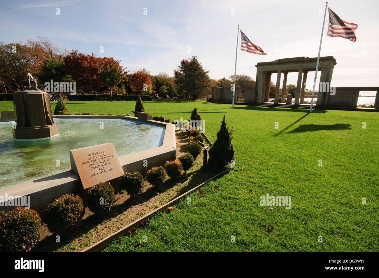 War Memorial, Southampton, the Hamptons, Long Island, New York State, United States of America, North America - Stock Image