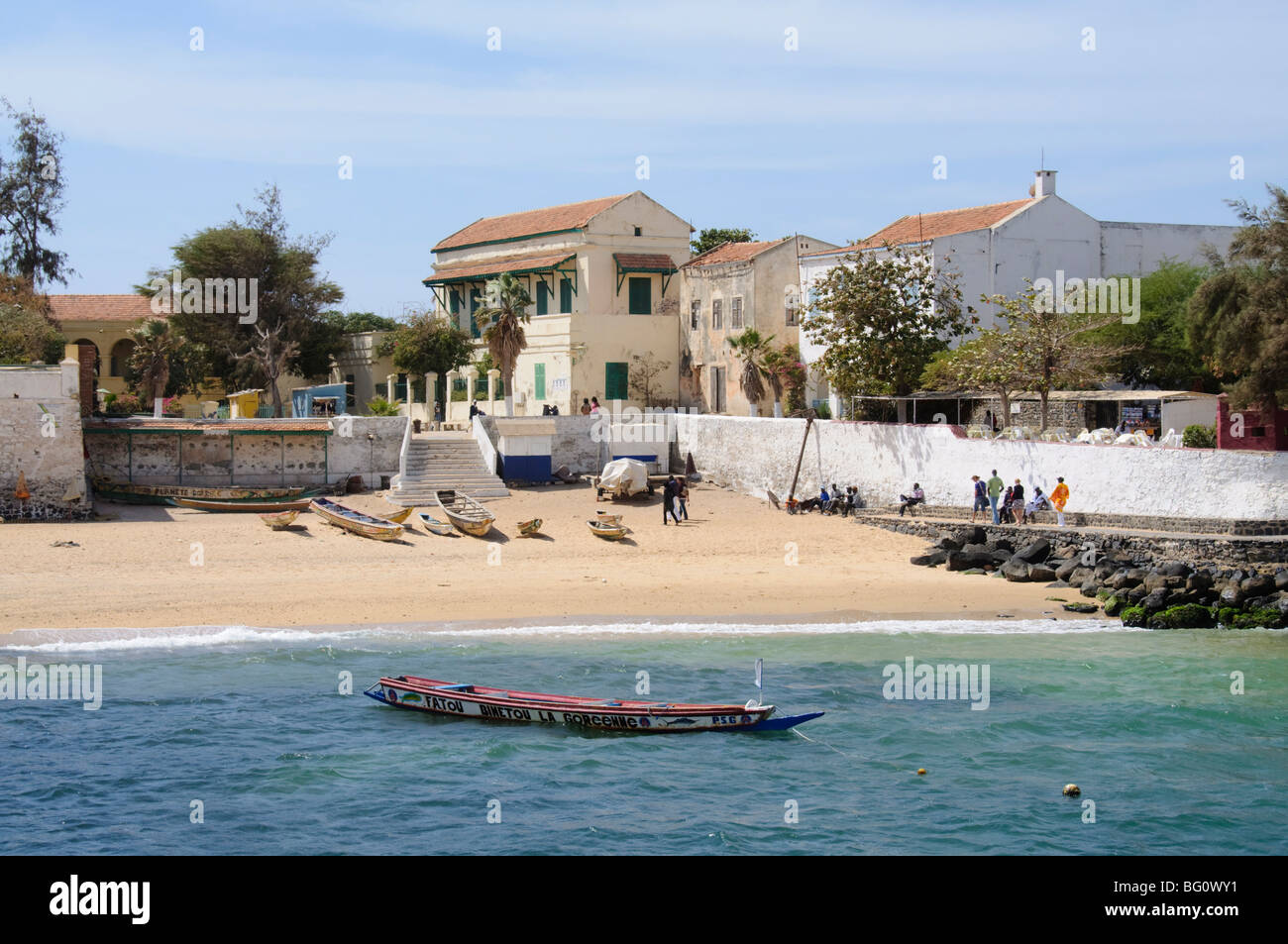Goree Island famous for its role in slavery, near Dakar, Senegal, West Africa, Africa - Stock Image