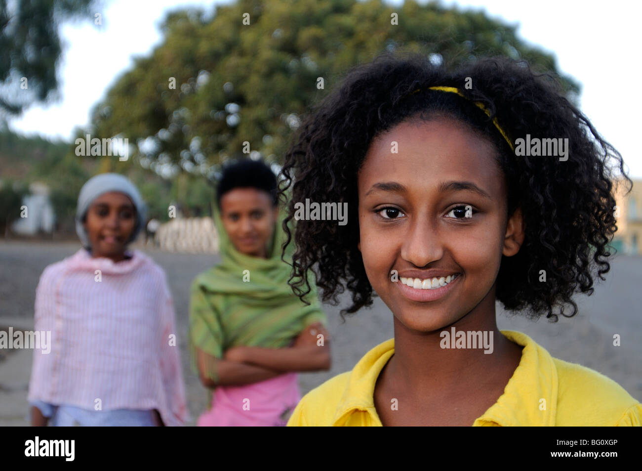 girl, axum, ethiopia - Stock Image