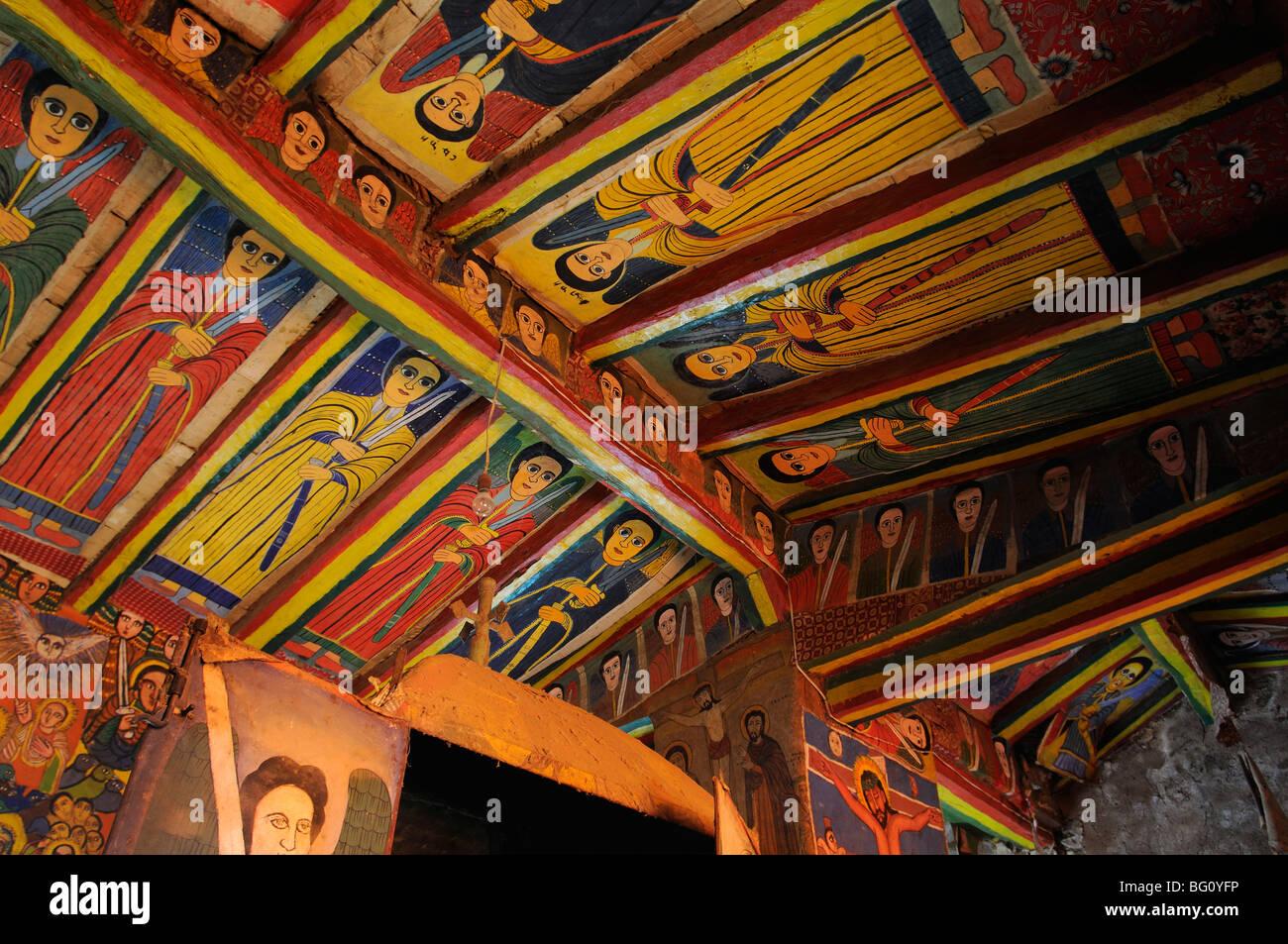 4 animals church, axum, ethiopia - Stock Image