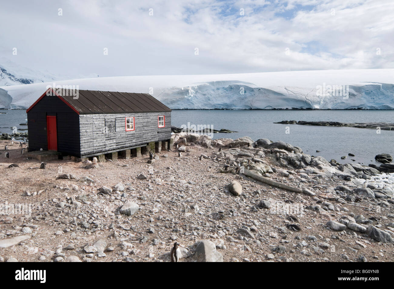 British Base and Post Office, Port Lockroy, Antarctic Peninsula, Antarctica, Polar Regions Stock Photo