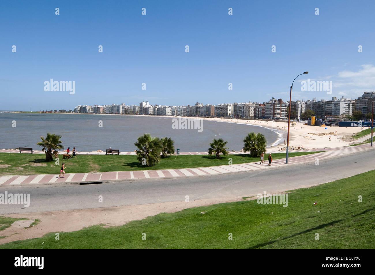 The Rambla, Montevideo, Uruguay, South America - Stock Image