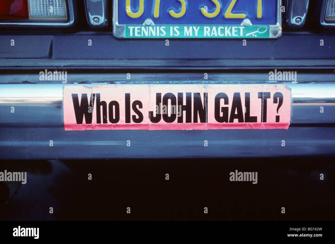 Bumper Sticker John Galt Atlas Shrugged Ayn Rand Stock