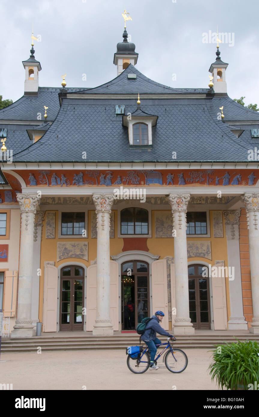 Hillside Palace, (Bergpalais), Pillnitz, Saxony, Germany, Europe - Stock Image